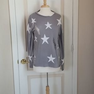 Silver Star Distressed Sweater